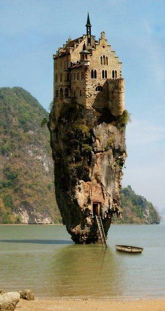 Castle House Island, Dublin, Ireland. Crazy!