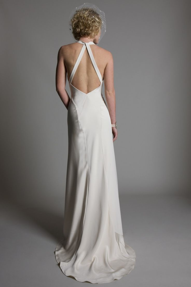 17 best images about backless wedding dresses by halfpenny for Vintage backless wedding dresses