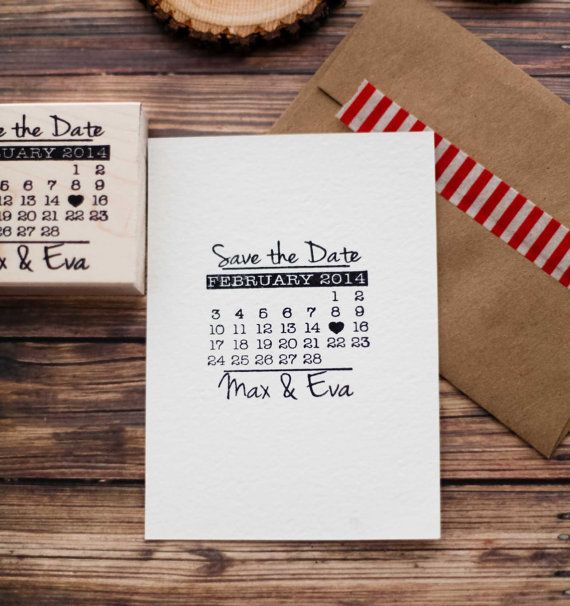 Customized Save the Date Calendar Wedding by RedCloudBoutique, $25.00