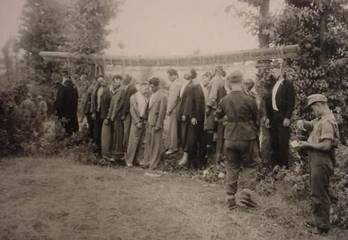 Partisans hanged in Greece.