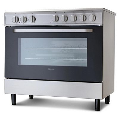 Servis SC900X 90cm Electric Range Cooker in Stainless Steel Ceramic Hob Single Oven