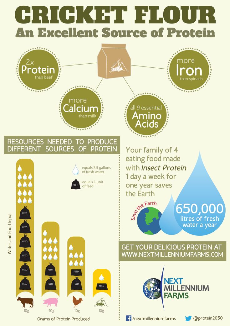 www.entomofarms.com Excited to share our latest infographic on how #cricket #flour is full of healthy nutrition and great for the environment!