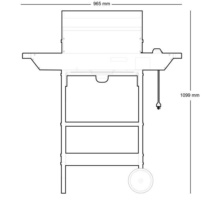 DIMPLEX Lareiras Elétricas | Modelos de Churrasqueiras Elétricas - Power Chef EBQ 2007