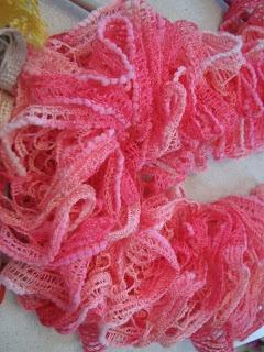 Tricot écharpe de printemps