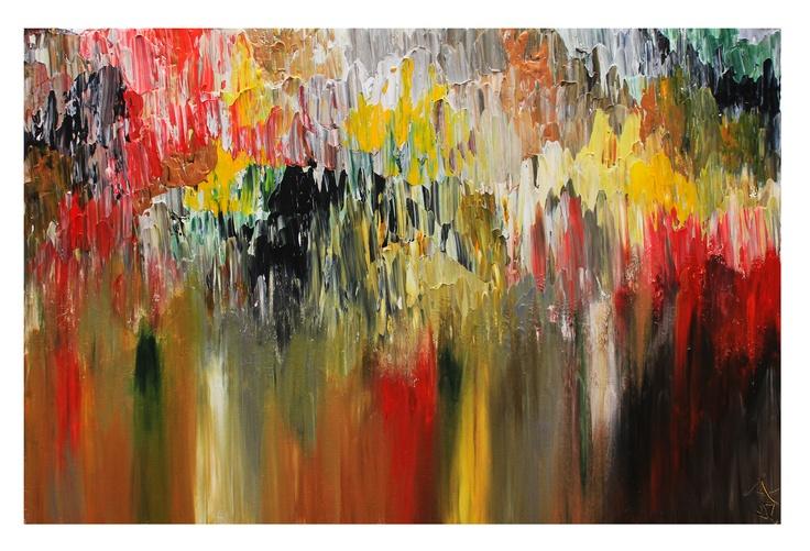 "Untitled 104, 20""x30""  Acrylic on Canvas"