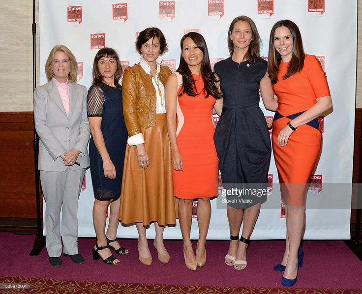 Greta Van Susteren, Lynsey Addario, Bodil Eriksson, Jane Chen, Christy Turlington Burns, and Moira Forbes attend the 2016 Forbes Women's Summit at Pier Sixty at Chelsea Piers on May 12, 2016 in New York City.