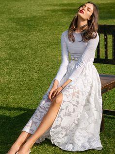 Свадебная юбка асимметричного кроя