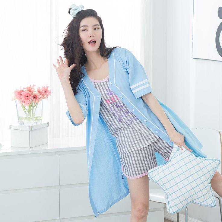 Women's Vest Sleepwear Pure 100% Summer Short-sleeve Cotton Outerwear Female Fashion Lounge Pyjamas Women Set  #Affiliate