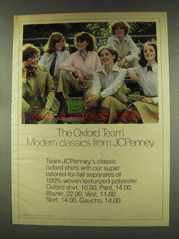 1977 JCPenney Classic Oxford Shirts Ad - Modern