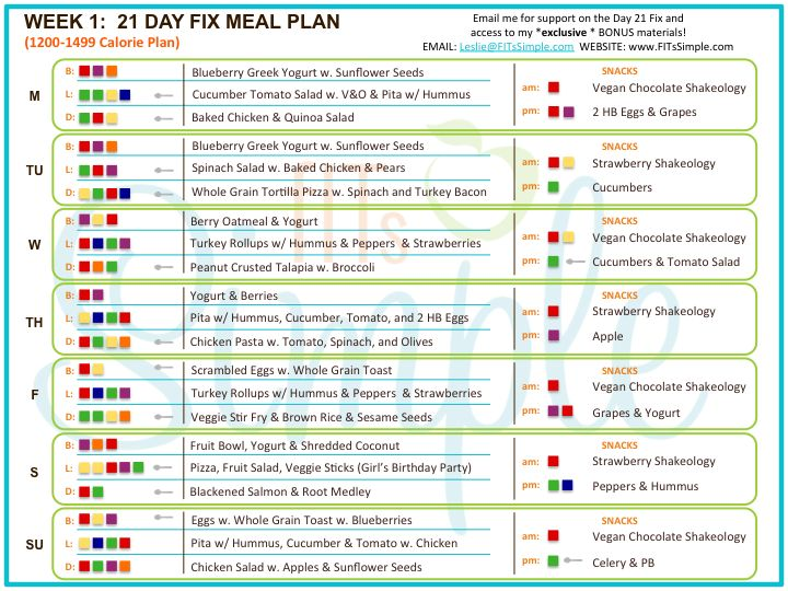 67 best images about 21 day fix meal plans on pinterest clean eating country heat and - Menu a 1200 calories ...