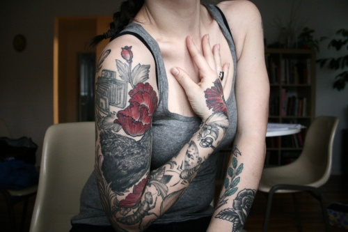 Alice Carrier's tattoos