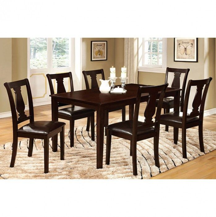 7 Pc.Dining Table Bridle I Collection CM3884T-7PK