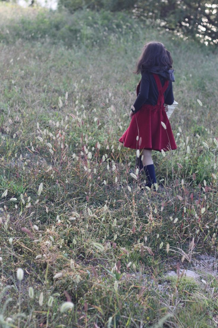winter red dress