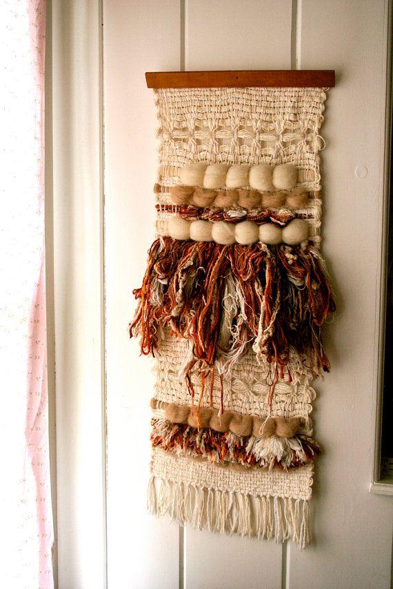 Vintage Fiber Art Modern Mod Wall Hanging Textile Weaving on Etsy, Sold