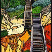 Coastal Walkway by Gail Kellett, 40cm w x 70cm h