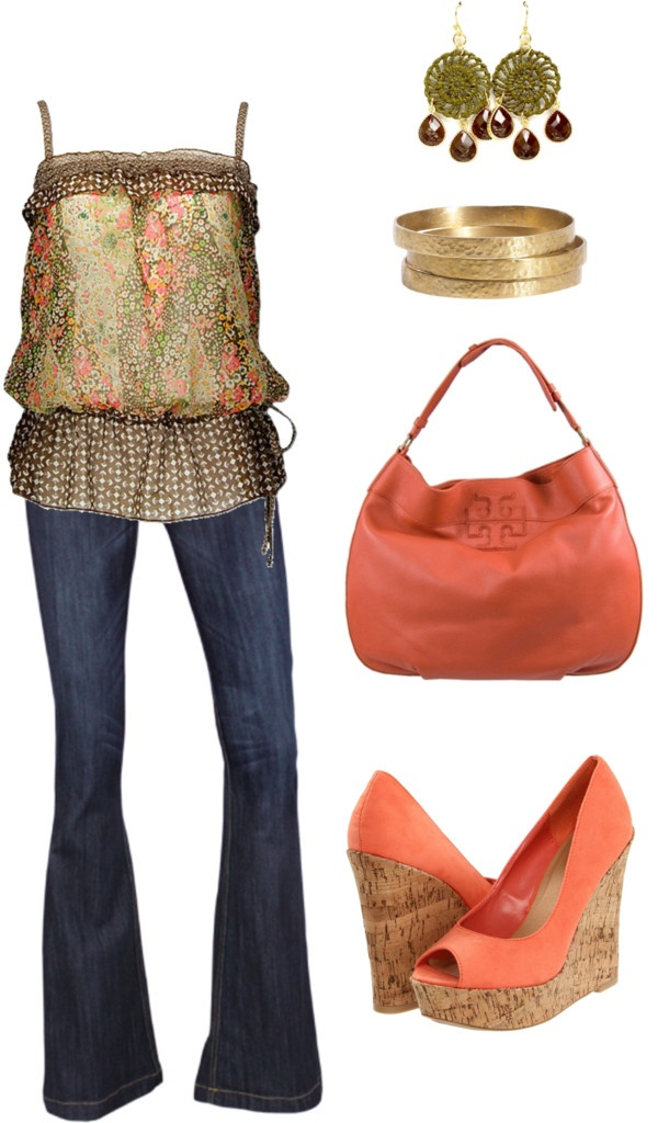 """""""coral & green"""" by michlee on Polyvore"""