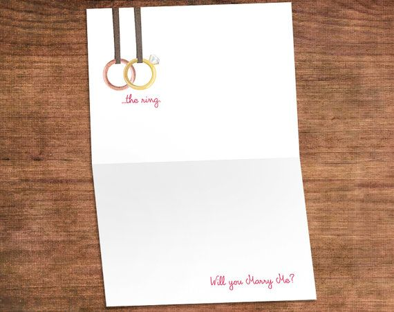 Crossfit Proposal Engagement Card Say I Do this Valentines