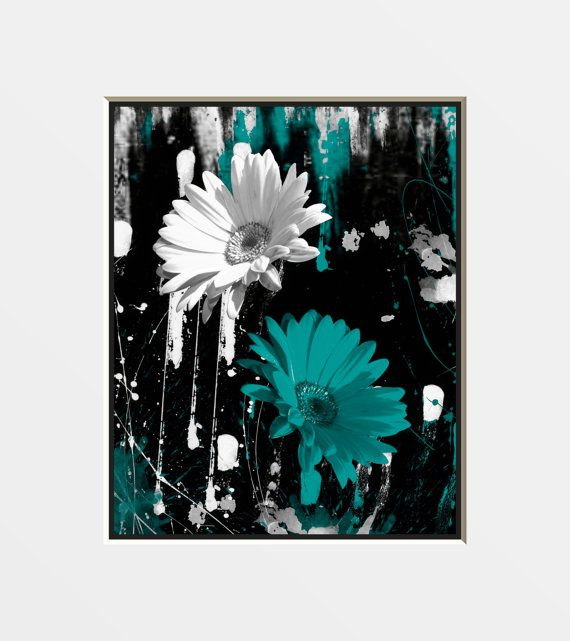 Black White And Red Wall Art best 10+ teal wall art ideas on pinterest | abstract flowers