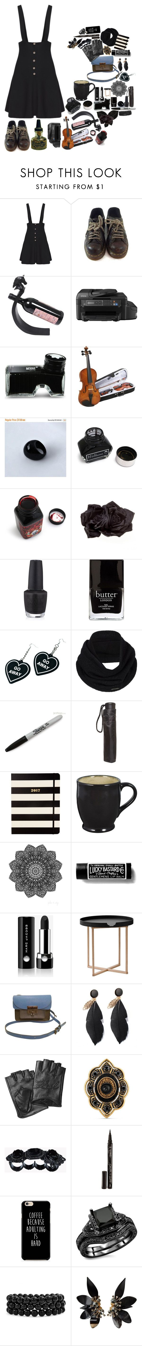 """""""Scorpion"""" by amanda-anda-panda ❤ liked on Polyvore featuring Dr. Martens, NOVICA, Epson, Montblanc, windsor., Johnny Loves Rosie, OPI, Butter London, Witch Worldwide and prAna"""