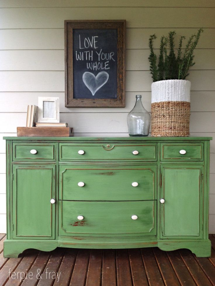 Chalk Painted Furniture by Color Series - GREEN