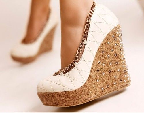 coooollWedges Heels, Fashion Shoes, Sparkly Shoes, Wedges Shoes, White Wedges, Girls Fashion, Platform Shoes, Girls Shoes, Summer Wedges