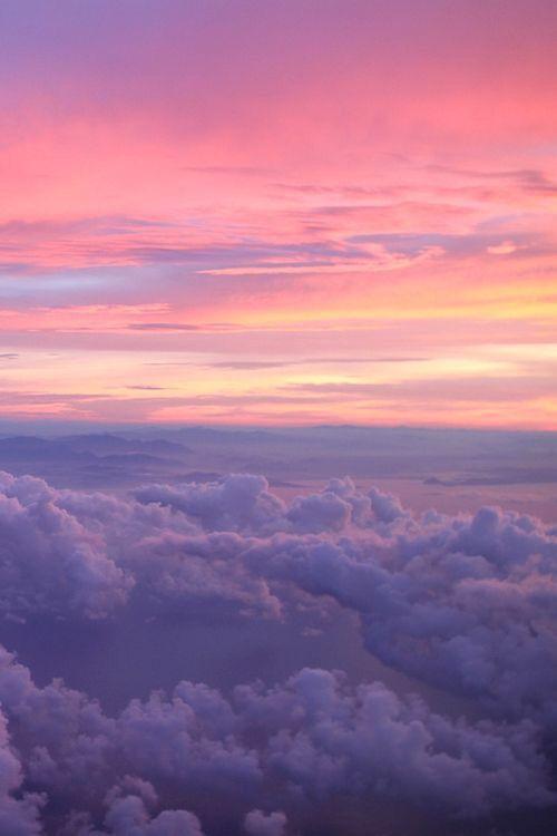 dream  pink  sky  pinksky  clouds  moon  sun  high
