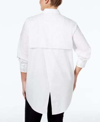 RACHEL Rachel Roy Curvy Plus Size Deconstructed Shirt $88.99 Add a classic building block to your wardrobe with the crisp style of this plus size deconstructed shirt from RACHEL Rachel Roy Curvy Collection.