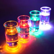 Liquid Activated Flashing Shot Glasses – 6 per set. 60 ml. These glasses are perfect for a party and they're reusable. Order +353 (1) 687 5066