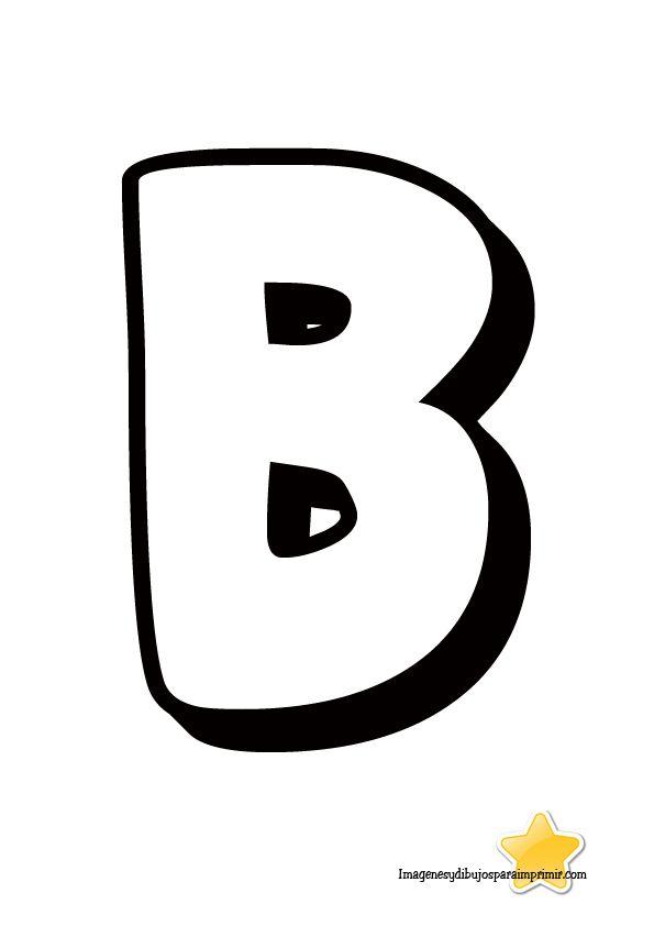 Letra b para imprimir letras grandes para imprimir