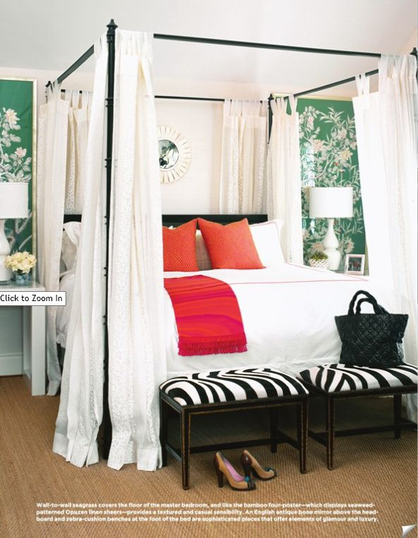 love the framed wallpaper panels flanking the bed orange bedroomswhite