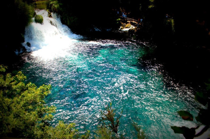 The marvelous Ojos del Caburgua waterfalls in southern Chile.