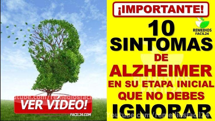 🔴 10 SINTOMAS DE ALZHEIMER EN SU ETAPA INICIAL QUE NO SE DEBEN IGNORAR │ SINTOMAS DE DEMENCIA SENIL #remediosnaturales #remedioscaseros