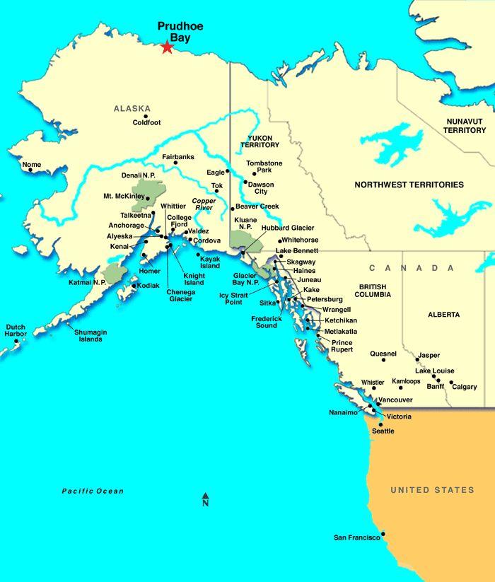 Prudhoe Bay Alaska Cartograpy Alaska Alaska Cruise Skagway Alaska