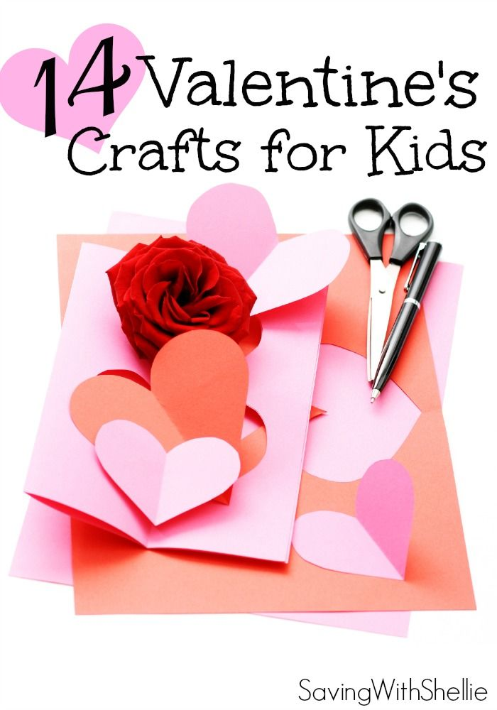 14 valentine 39 s day crafts for kids fun projects easy for Kids valentines day craft
