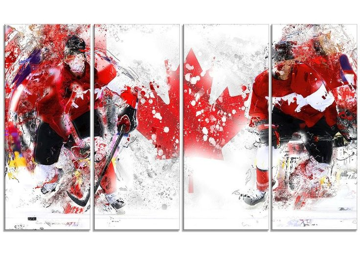 Team Canada Hockey Canvas Print | PT2533