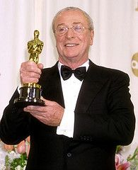 """3/23/14 9:13a The Academy Awards Ceremony 2000:    Michael Caine  Best Supporting  Actor Oscar  """"The Cider House Rules""""  1999.  flickr.com"""