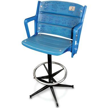 The Autographed Authentic Yankee Stadium Seat Barstool - Hammacher Schlemmer