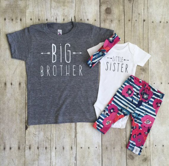 Big brother shirt and little sister set by WillowBeeApparel