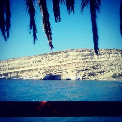 Matala, Crete. Pre-game relaxing