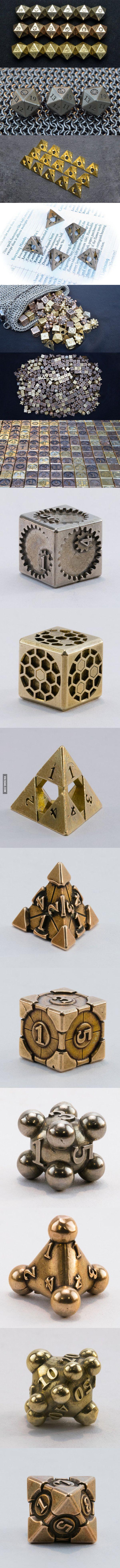 Cool metal gaming dice!
