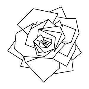 Geometrische Rose Tätowierung