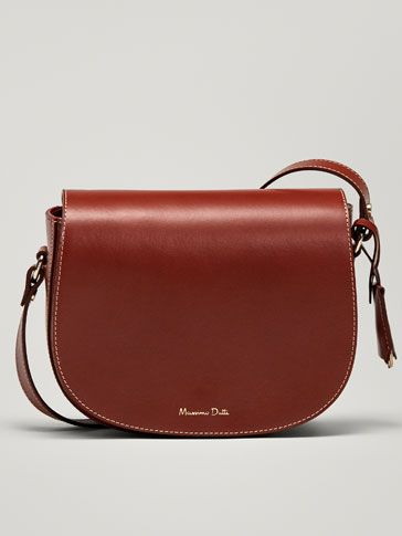 bdb86c92ea6a Autumn Winter 2018 Women´s PLAIN LEATHER CROSSBODY BAG at Massimo Dutti for  99.95. Effortless elegance!