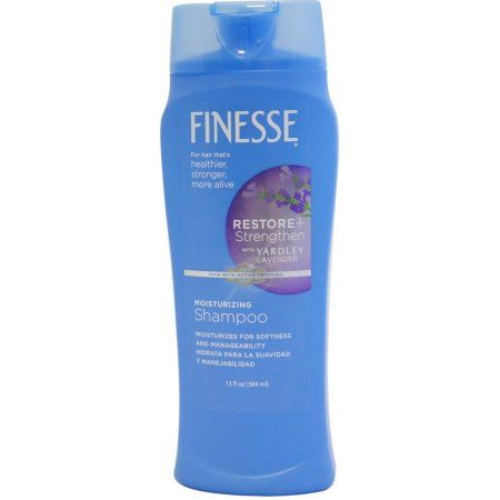 Finesse Shampoo All Hair Types With A Touch Of Yardley Lavender, 13.0 FL OZ, Multicolor