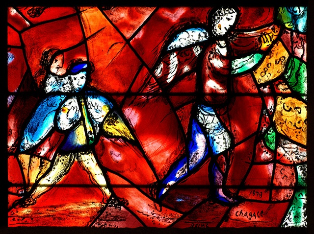 Chichester, Sussex, cathedral, Chagall window, detail