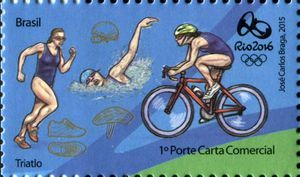 Sello: Triathlon (Brasil) (Olympic and Paralympic Games Rio 2016 second series) Mi:BR 4264,WAD:BR067.15,RHM:BR C-3477