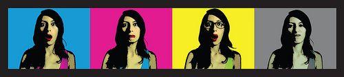 CMYK | Pop art banner #design