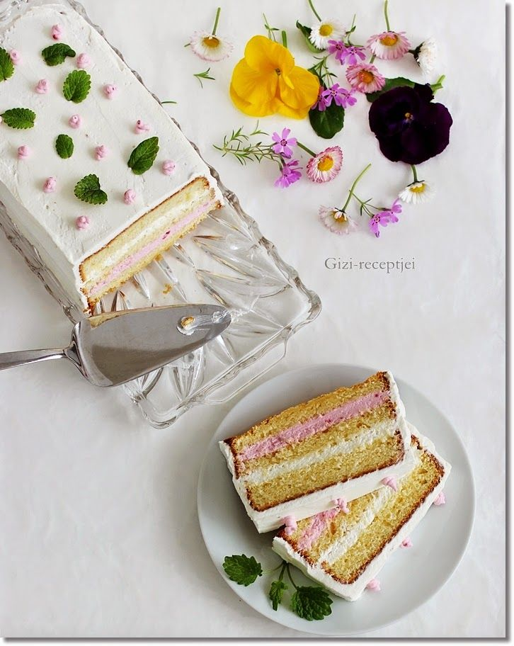Gizi-receptjei. Várok mindenkit.: Málnás-vaníliakrémes torta.