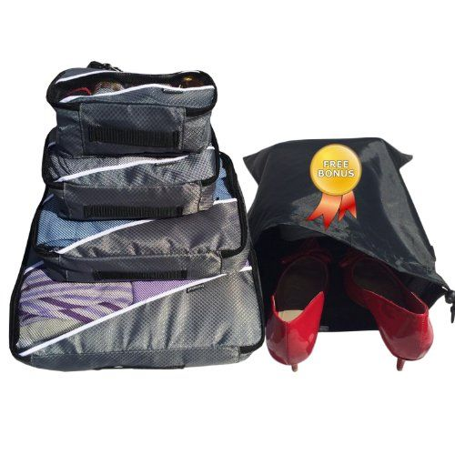 Travel Packing Cubes- Packing Cubes   4pc Eva-Ash Set With Free ♥ Shoe bags   laundry hamper   laundry bag ♥   Multi-Purpose Use, Packing Cubes Large,  Packing Cubes   Packing Cubes for Travel  Packing Cubes Small, Cosmetic Bag   Cosmetic Bag Set   Toiletry Bag   Men Toiletry Bag   Toiletry Bag For Men   Toiletry Bag For Women   Toiletry Bag For Kids   Makeup Bag   Travel Bag   Luggage   Sports ...