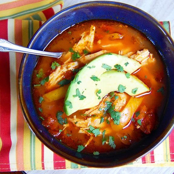 Crockpot Enchilada Soup! Almost zero prep, and low-carb, Paleo, and 21 day fix approved!