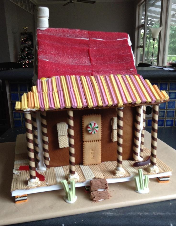 Australian style homestead farm gingerbread house